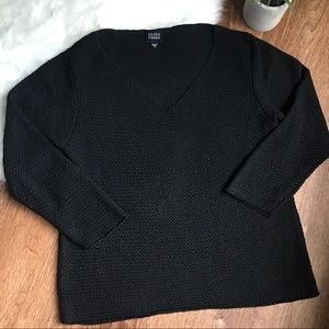 Eileen Fisher Lightweight Loose Knit Black Sweater